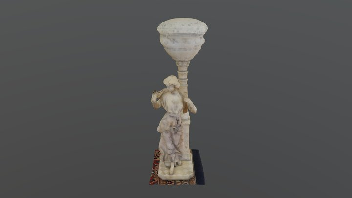 Marble and Alabaster Lamp 3D Model
