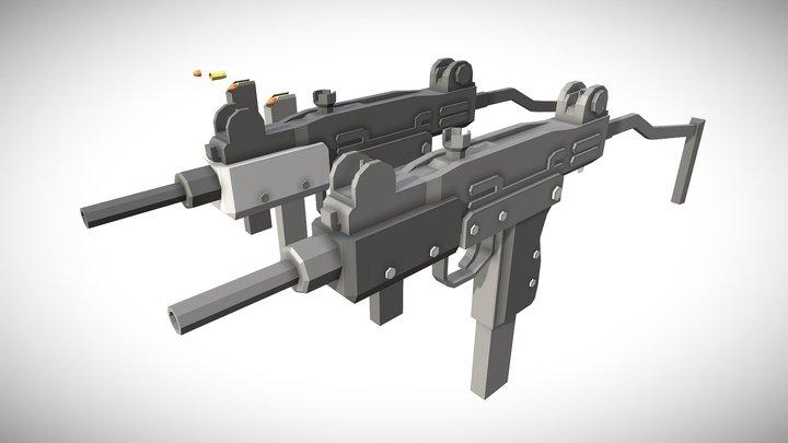 「Low Poly」Uzi 3D Model