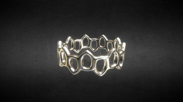 Offset Links Ring 3D Model