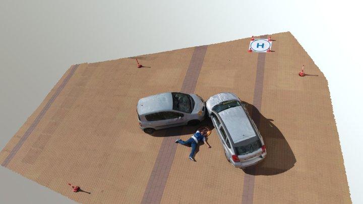 Forensic scene for crime experts 3D Model