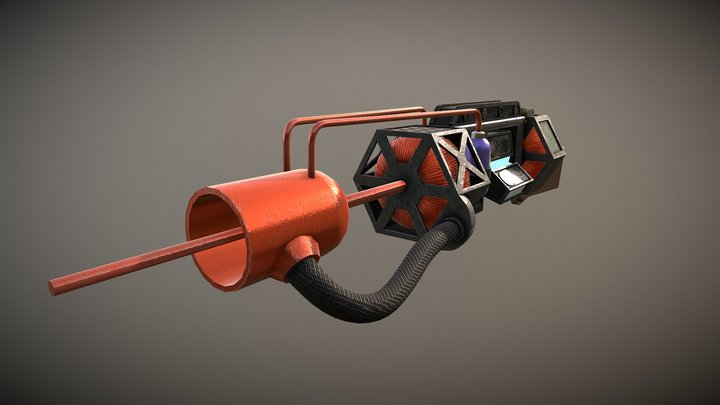 TAU Cannon from Half-Life 3D Model