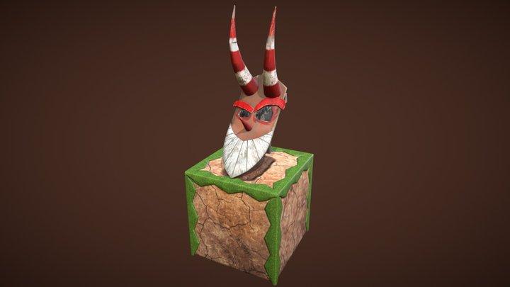 Bouclier de Maskemane le Zobal 3D Model