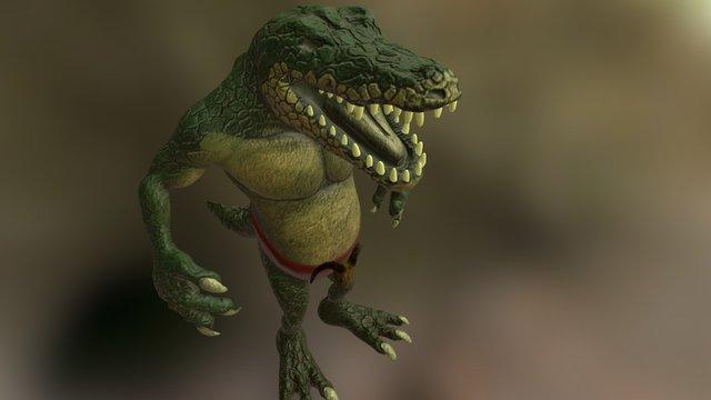 Crocodile in progress 3D Model