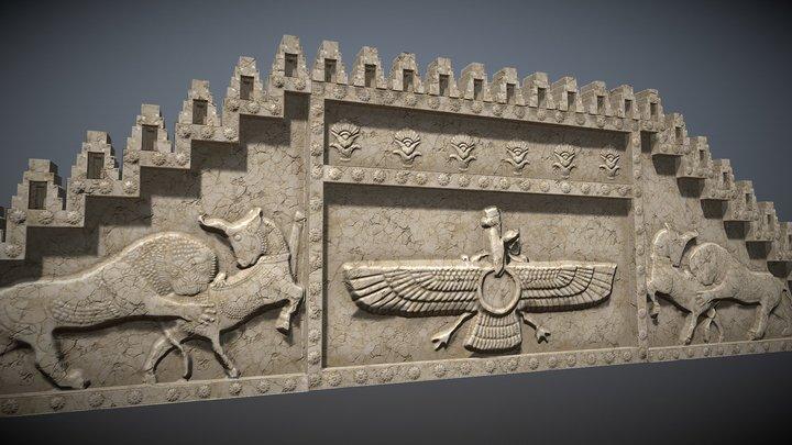 Persepolis bas-relief 3D Model