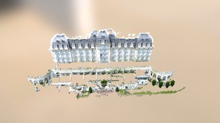 LATITUDE DRONE - Facade Imperial Palace 3D Model