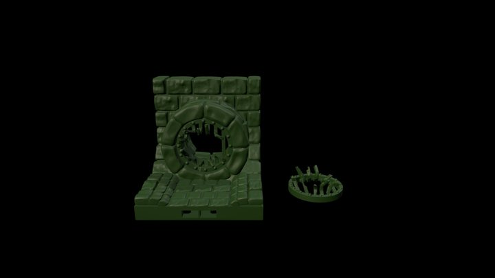 Sewer Grate Display 3D Model