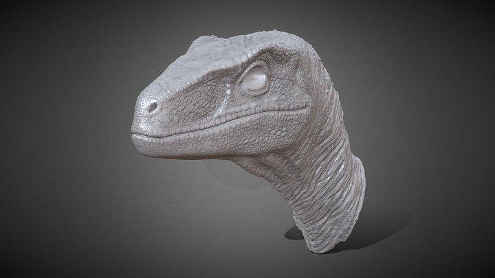 Raptor Head (printable) 3D Model