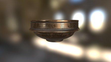 Escudilla romana de bronce Drag. 24-25 3D Model