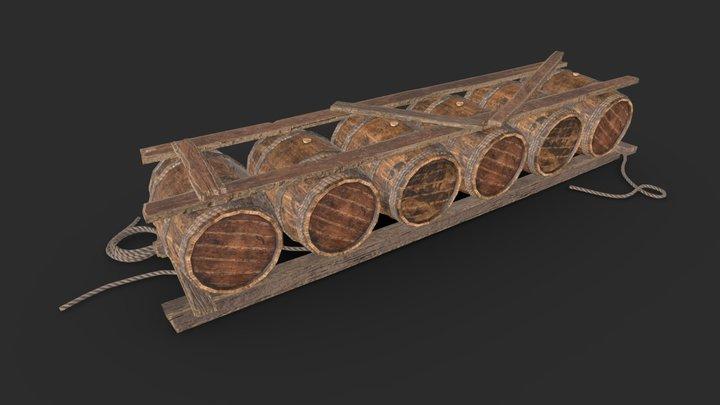 Wooden Asset 02 3D Model