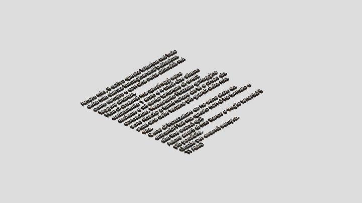 Letterhino 3D Model