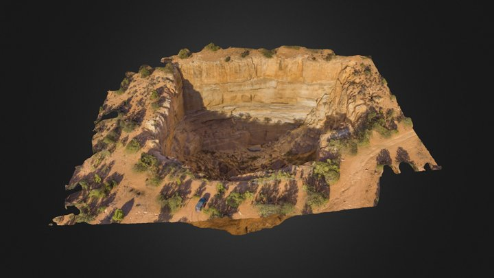 Eagle Sink, a sink hole near Kanab, UT 3D Model