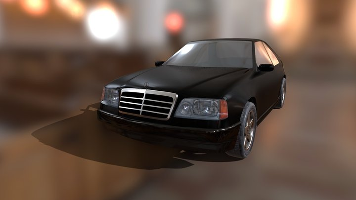 Mercedes-Benz E-class W124 (unfinished) 3D Model