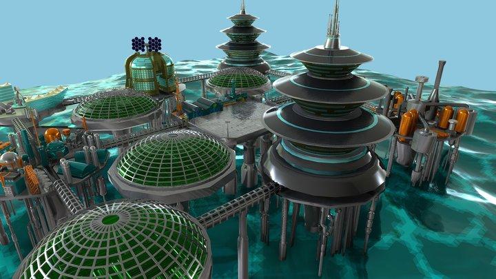 POSEIDON COLONY: CHEMICAL REFINERY 3D Model
