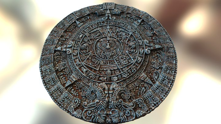 Aztec sun calendar (copy of Piedra del Sol) 3D Model