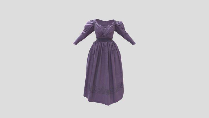 1830s Evening Gown 3D Model