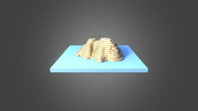 Geography class test map 3D Model