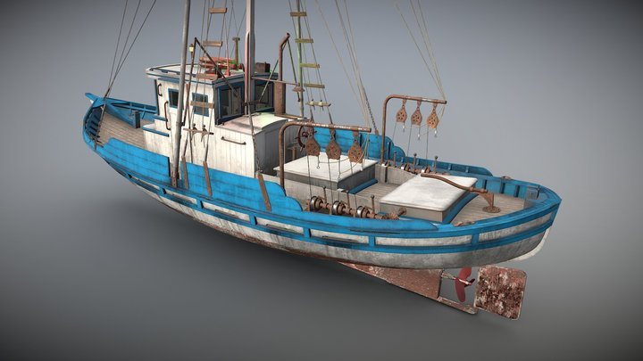 Monterey Clipper Fishing Boat 3D Model