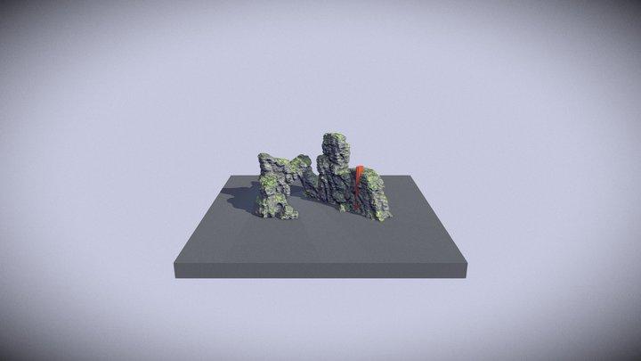 Procedural rocks in Houdini 3D Model