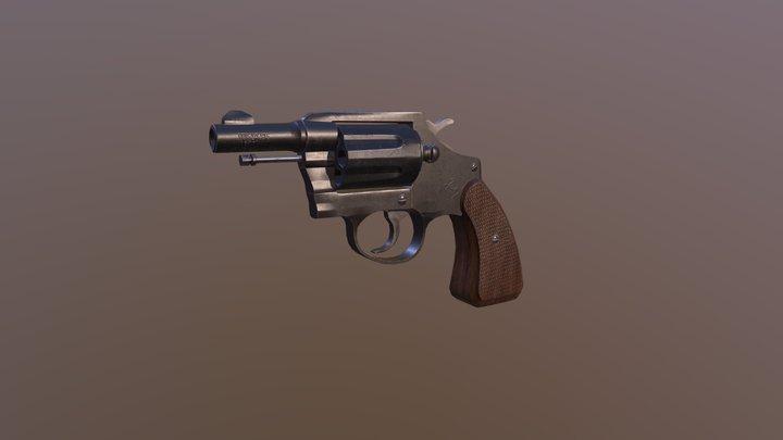 Colt Detective Gun 3D Model