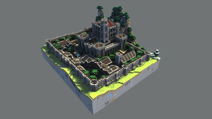 Minecraft Castle 3D Model