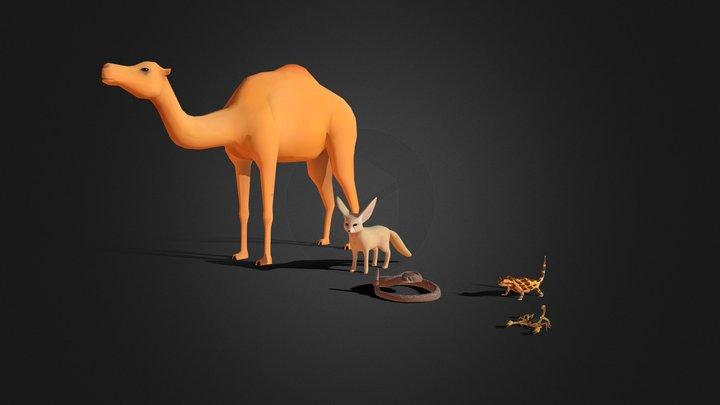 Desert Animal Bundle 3D Model