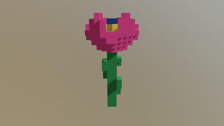 Flor Rara Rosa 3D Model