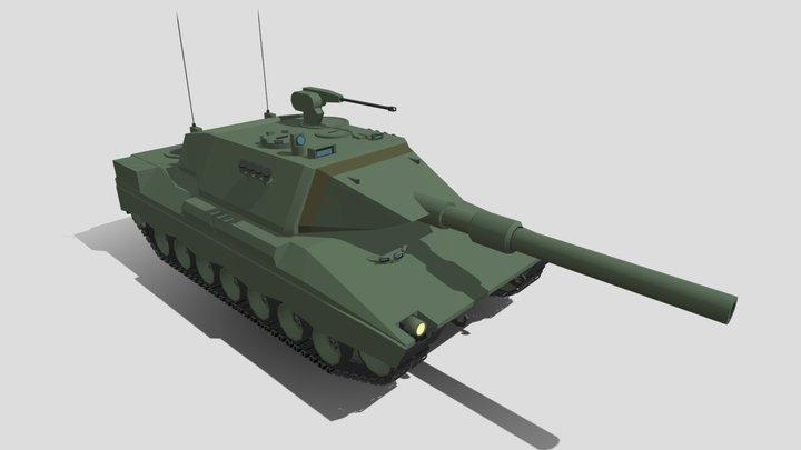 Leopard 2K MBT 3D Model