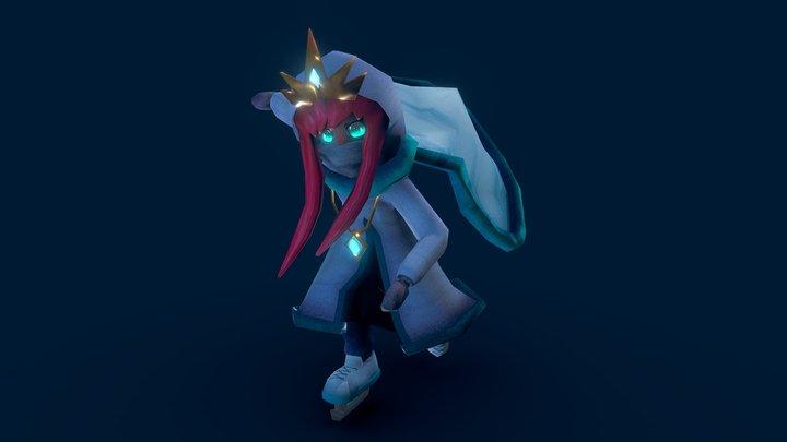 Ice Princess, Winter 3D Model