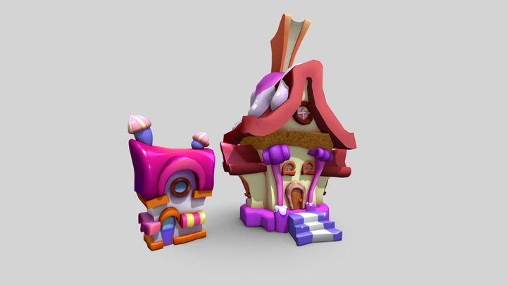 Candy Houses 3D Model