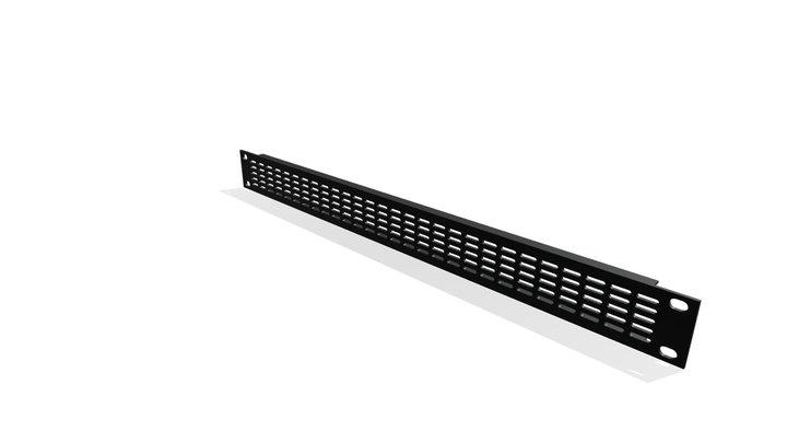1RU Vent Panel 3D Model