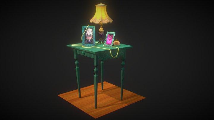 Stylized Table 3D Model