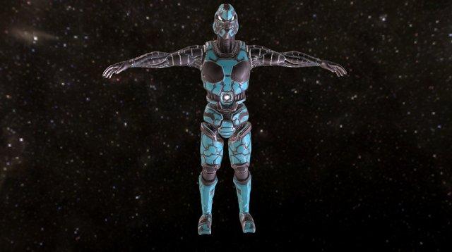 Tactical Combat Cyborg - RAIJU Mk I 3D Model