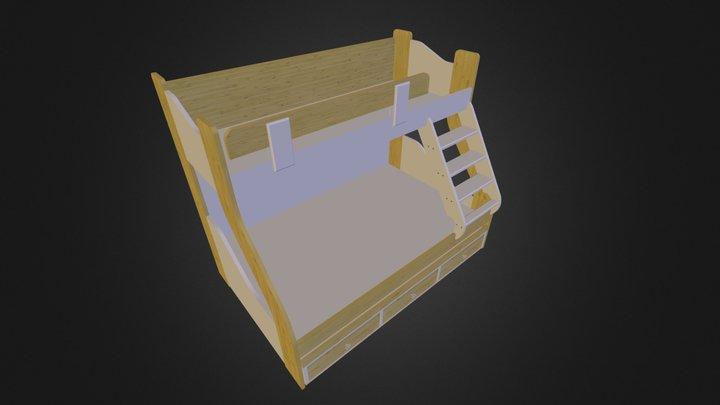 מיטת קומותיים אלסקה 3D Model