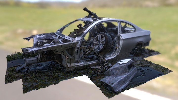 Destructed BMW 3 Series 3D Scan (Photogrammetry) 3D Model