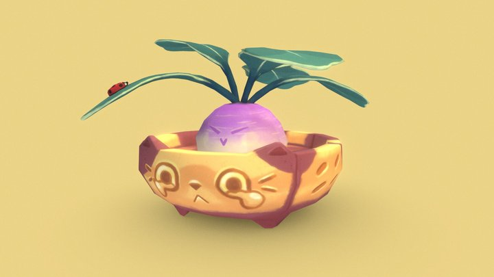 Casper the Catpot 3D Model