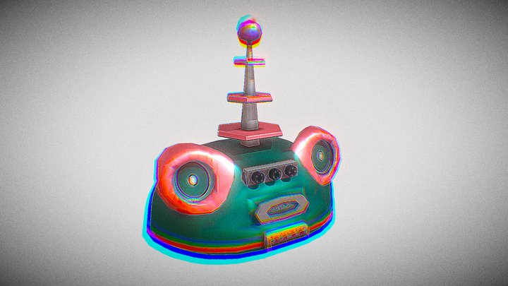Retrofuturism - Standard Asset 4 - Radio 3D Model