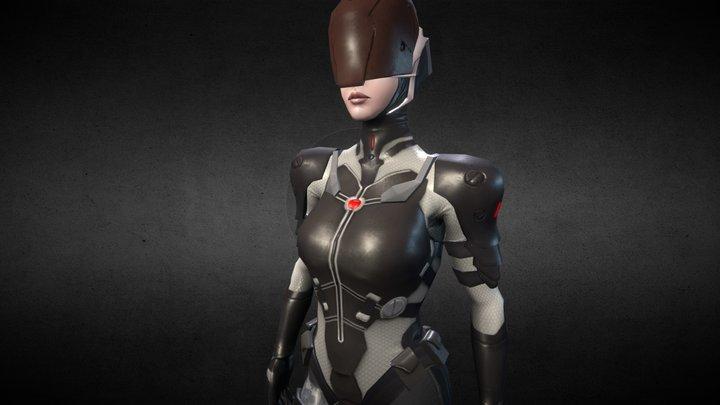 Sci-fi female 3D Model