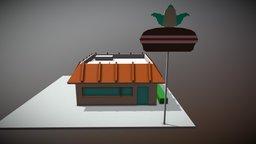 Krusty Burger low poly 3D Model