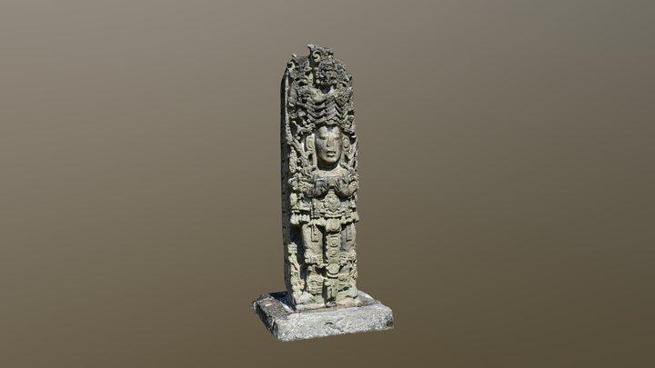 Stela A, Copan, Honduras 3D Model