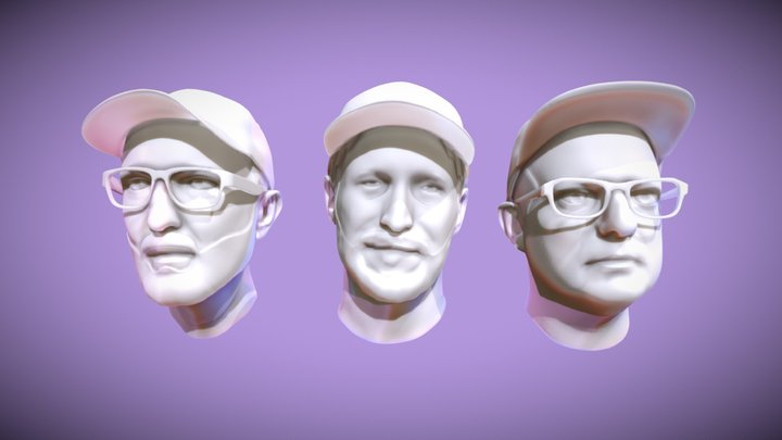 Me and my friends 3D Model