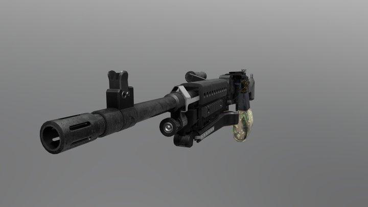 M240 - 50 rounds 3D Model
