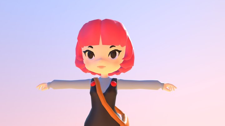 3D Lowpoly Character 3D Model