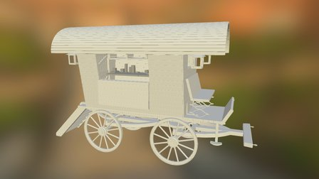 WIP - Travelling Apothecary Wagon 3D Model