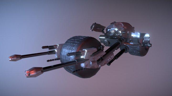 Batpod - Batman 3D Model