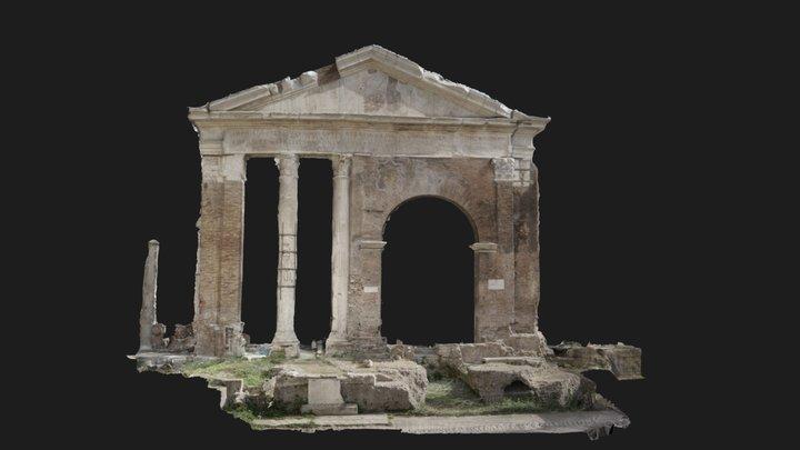 Portico d' Ottavia, Roma 3D Model