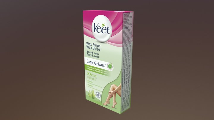 Veet Cold Wax Strips dry flavour 3D Model