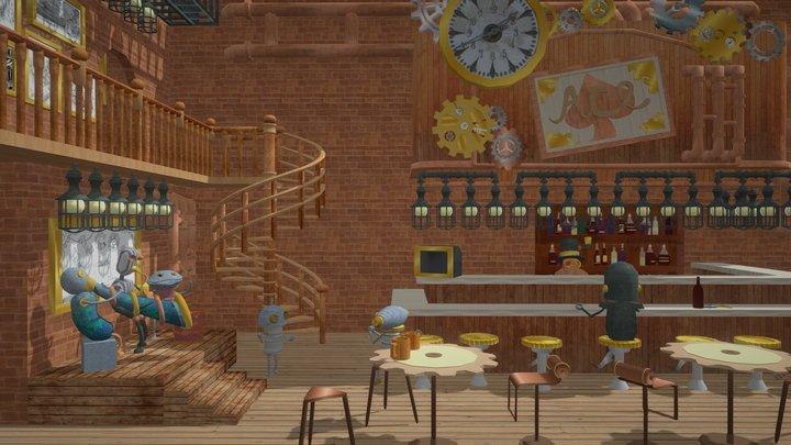 機器人酒吧 3D Model