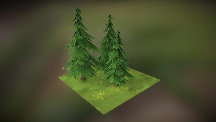 Pine Tile 3D Model