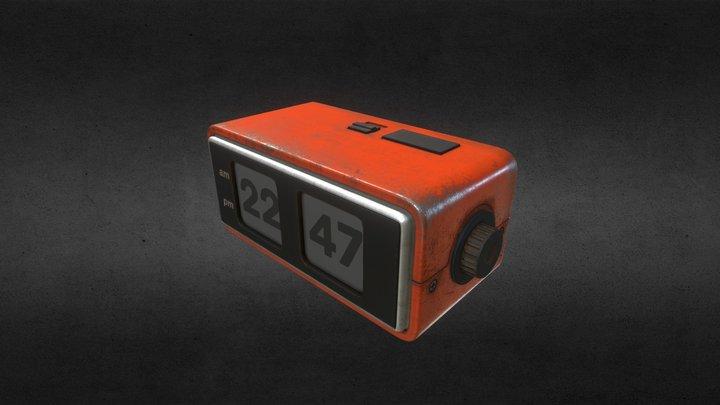 Battered alarm clock 3D Model