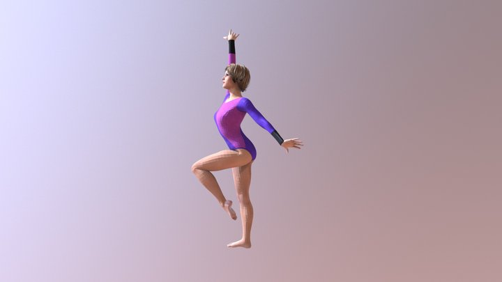 gymnastics 2 3D Model